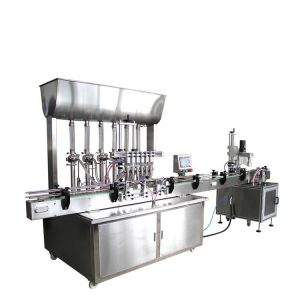 automatic 6 heads liquid filling machine hand sanitizer production line